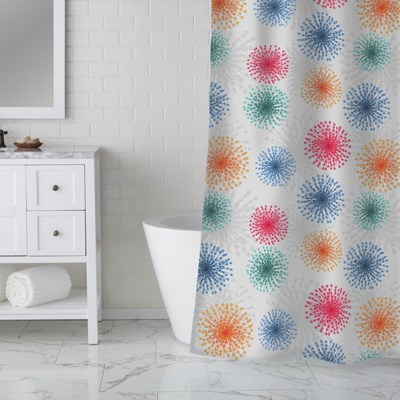 Dandelions To New Years Eve Shower Curtain
