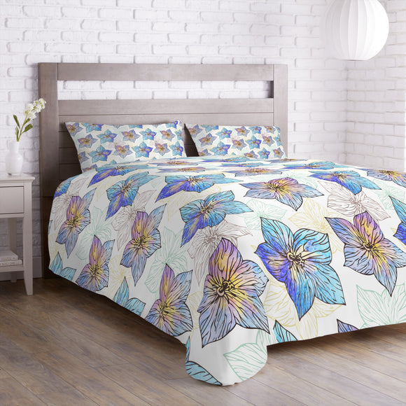 Watercolor Hibiscus Duvet