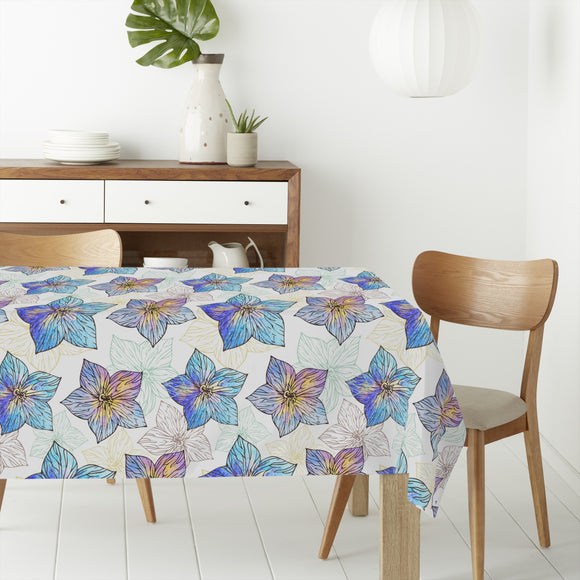 Watercolor Hibiscus Rectangle Tablecloths