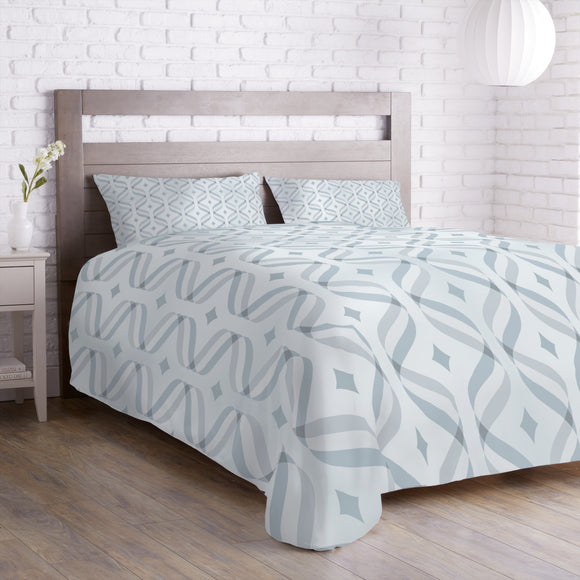 Waves And Diamonds Duvet