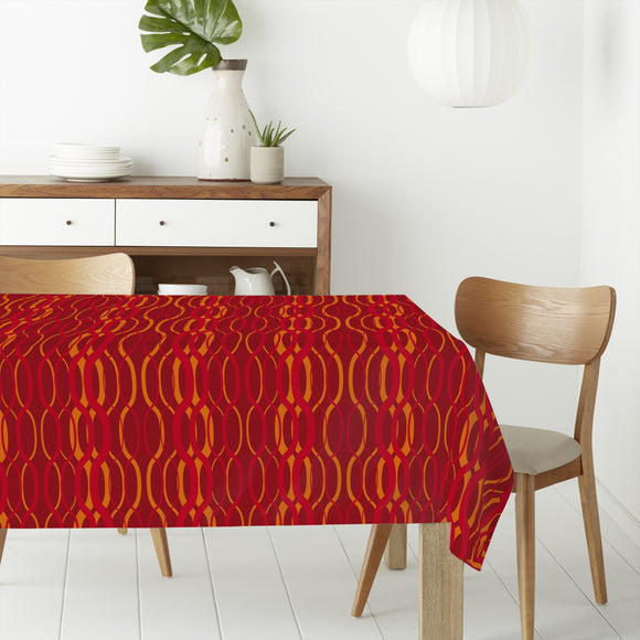 Fire Waves Rectangle Tablecloths