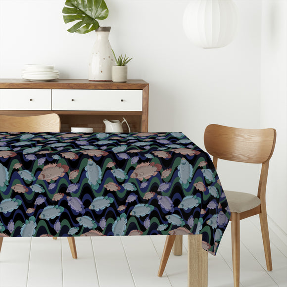 Fish In The Flow Rectangle Tablecloths