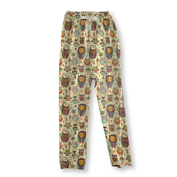 Owl Love Music Very Much Pajama Pants