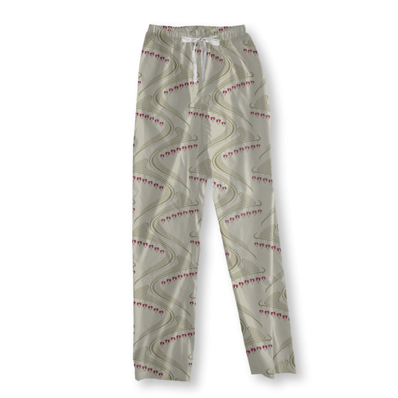 Heart Shaped Beige Pajama Pants