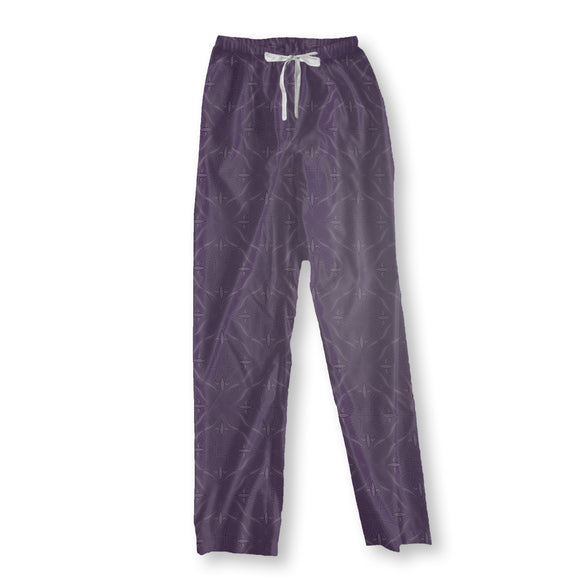 Renaissace In Purple Pajama Pants