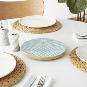 Fishing Net In Winter Lazy Susan