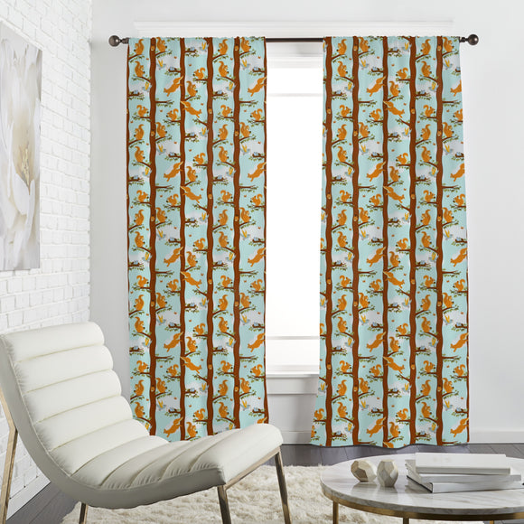 Squirrel Party Curtains
