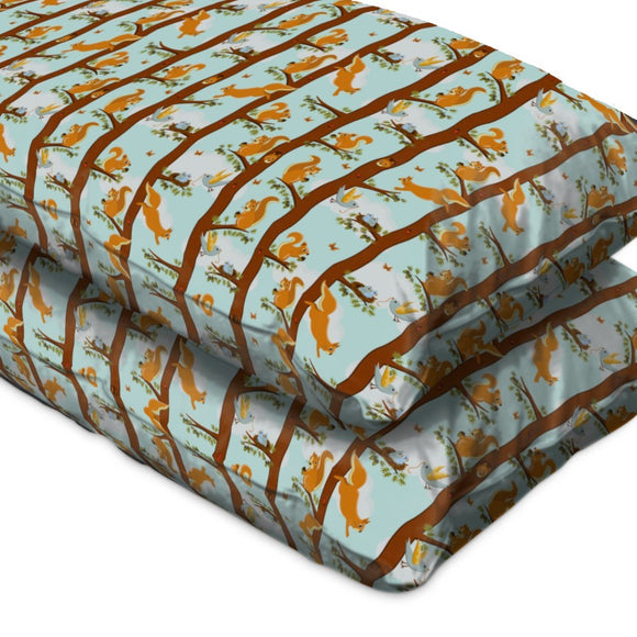 Squirrel Party Pillow Case
