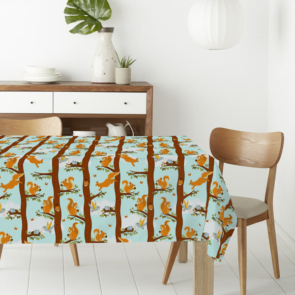 Squirrel Party Rectangle Tablecloths