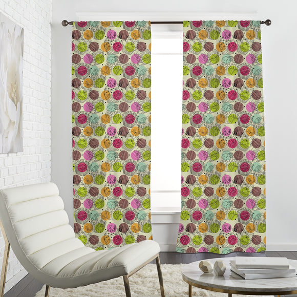 Cup Cake Fantasies Curtains