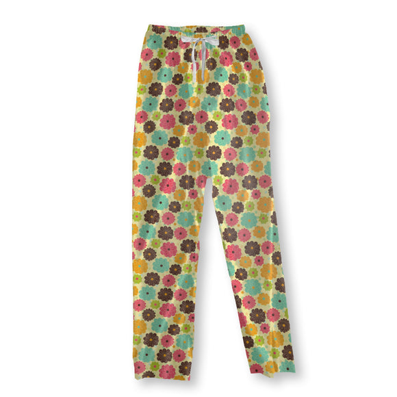 Scattered Floral Patchwork Pajama Pants