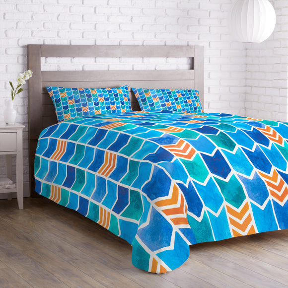 Water Color Zigzag Duvet