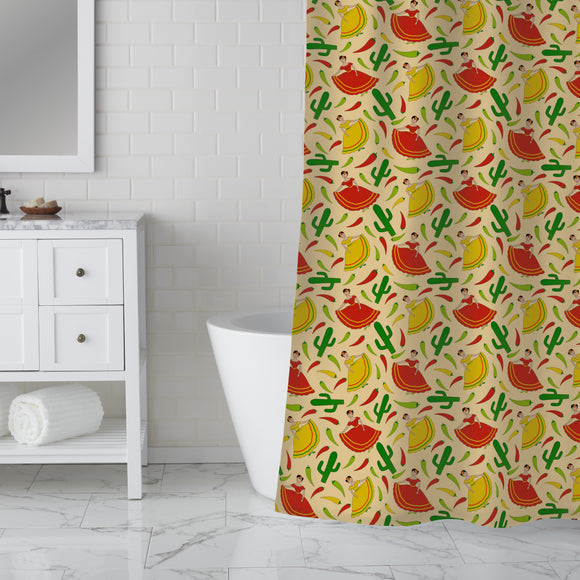 Senorita Chili Shower Curtain