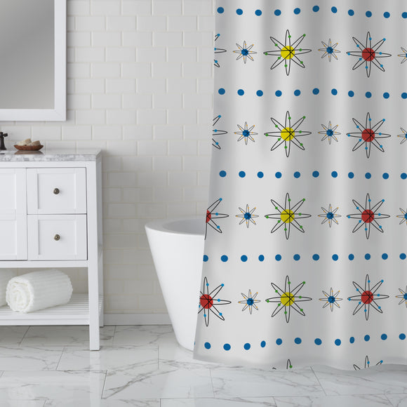 Atoms Shower Curtain
