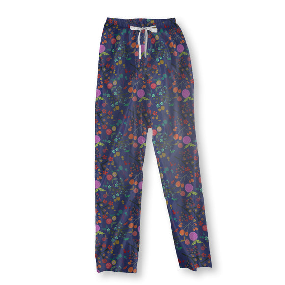 Olives And Flowers Pajama Pants