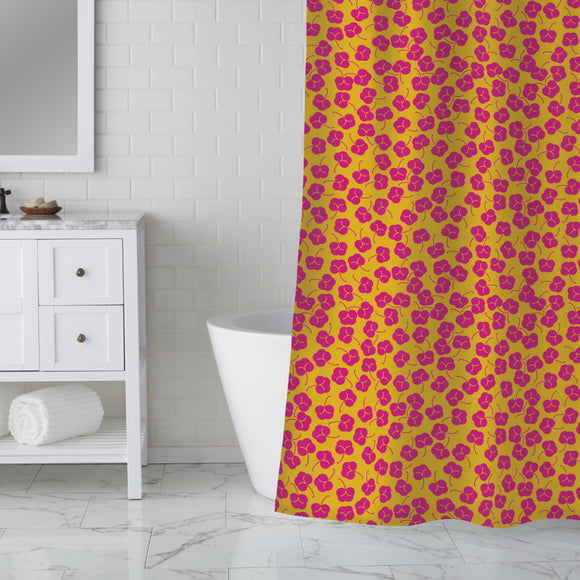 Plum Bloom Shower Curtain