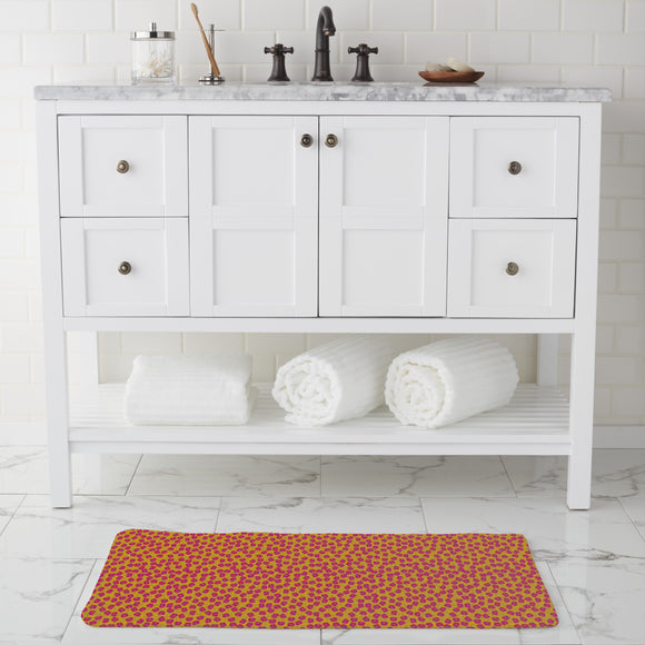 Plum Bloom Bathroom Rug