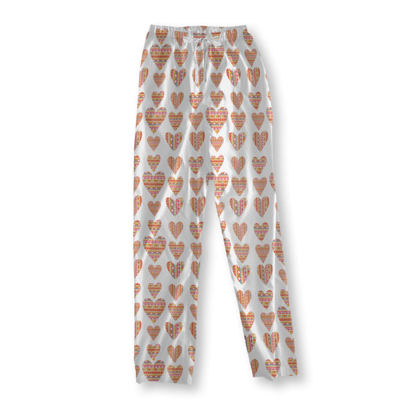 Tribal  Hearts Pajama Pants