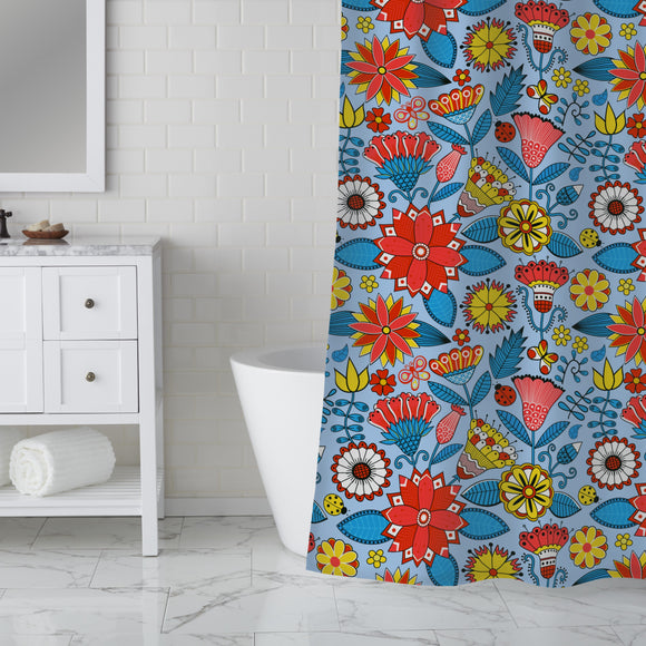 Julias Beautiful Garden Shower Curtain