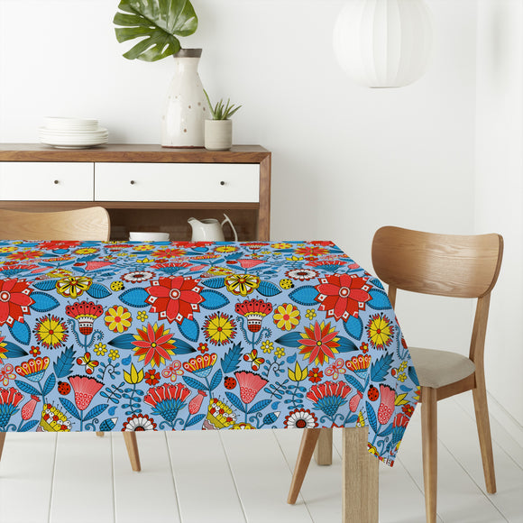Julias Beautiful Garden Rectangle Tablecloths