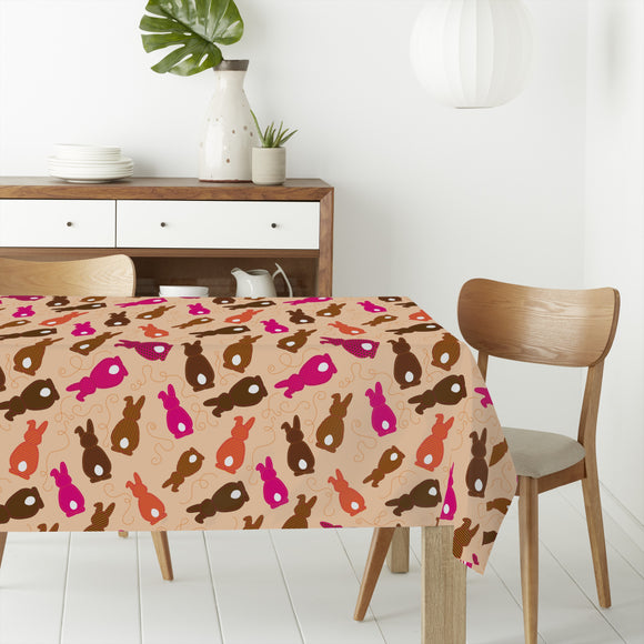 Bouncing Bunnies Pink Rectangle Tablecloths