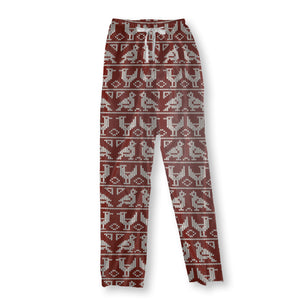 Knitted Birds Pajama Pants