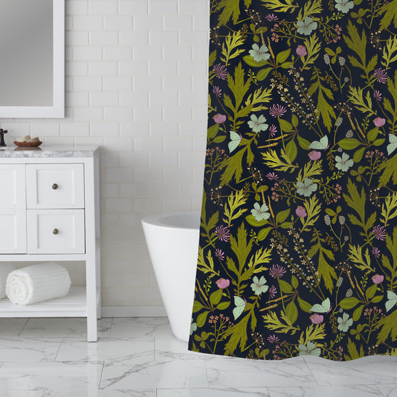 Meadow At Night Shower Curtain