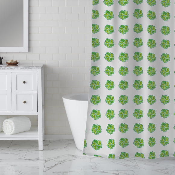 Leaf Swirl Shower Curtain