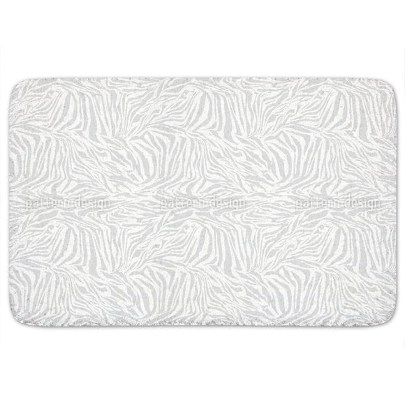 Zebra Monochrome Bathroom Rug