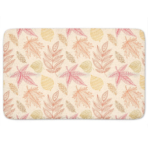 Decorative Autumn Leaves Bathroom Rug