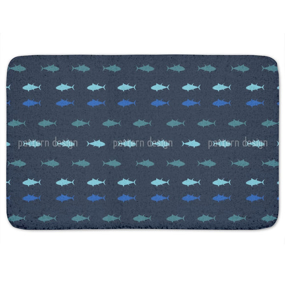 Nautical Tuna Bathroom Rug