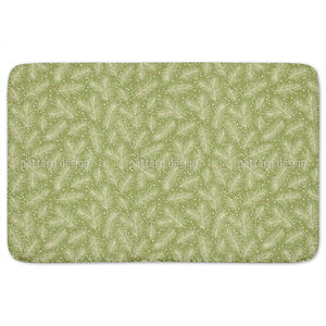 Pine Branches Bathroom Rug