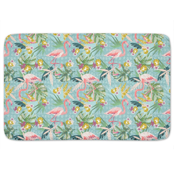 Flamingo Party Bathroom Rug