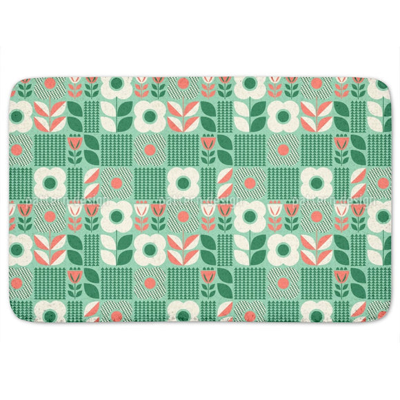 Retro Scandinavian Bathroom Rug