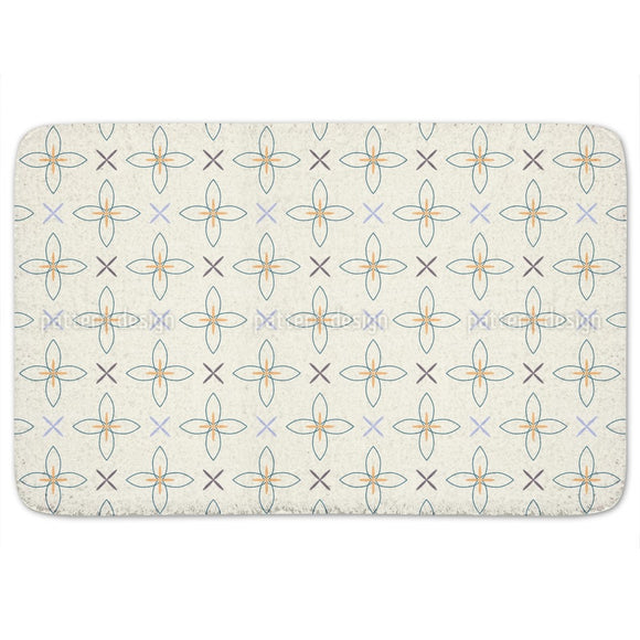 Floral Crosses Bathroom Rug