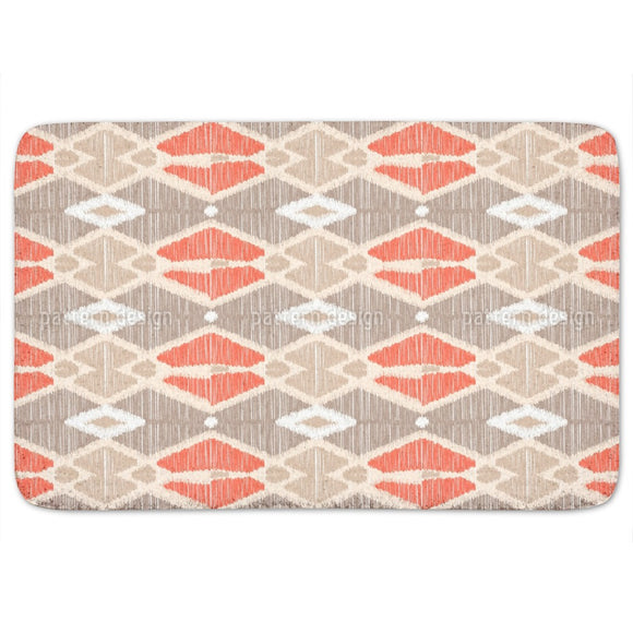 Ikat Geometry Bathroom Rug