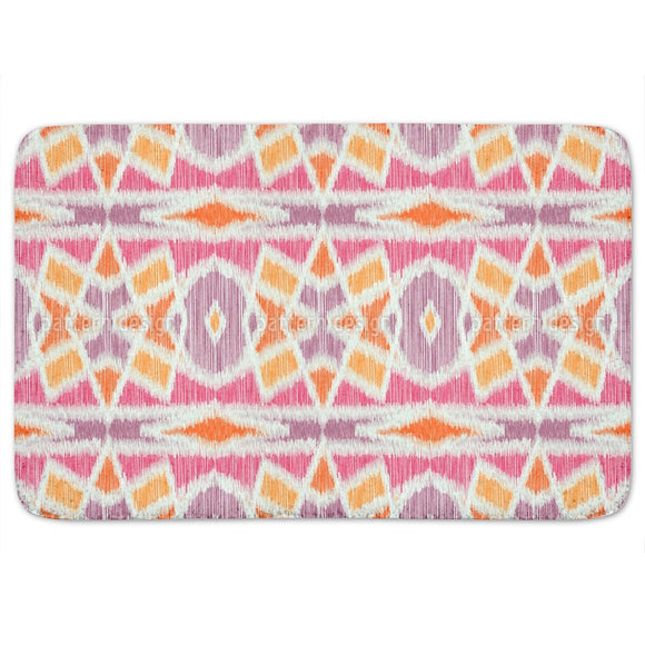 Power Ikat Bathroom Rug