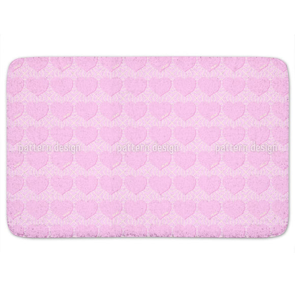 Angular Hearts Bathroom Rug