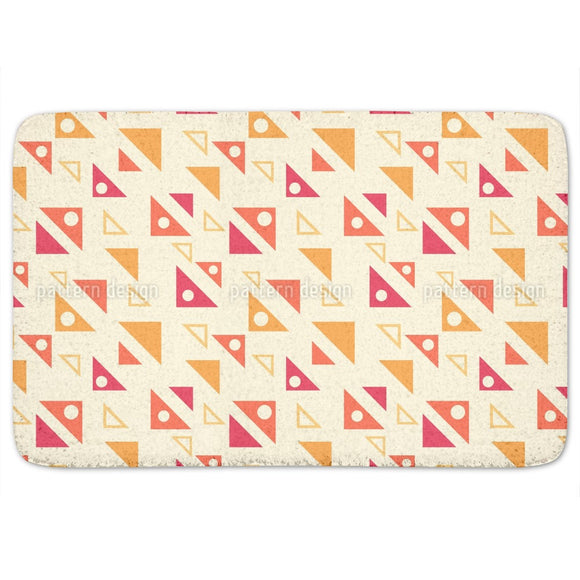 Angled Triangles Bathroom Rug