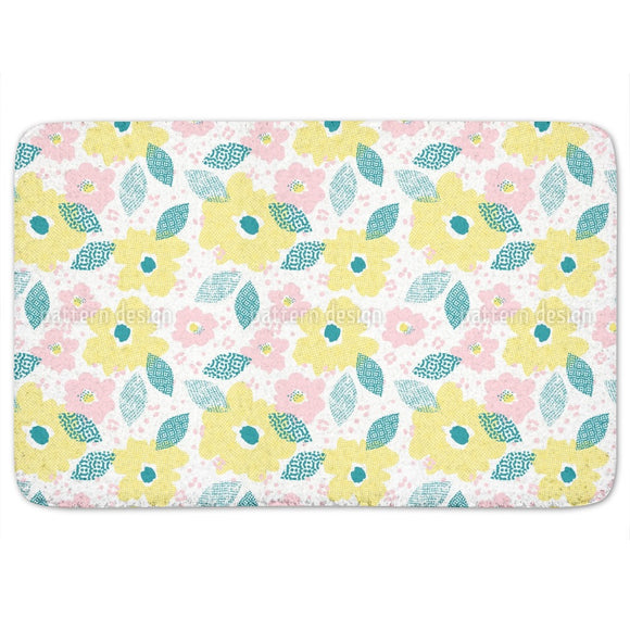 Raster Bloom Bathroom Rug