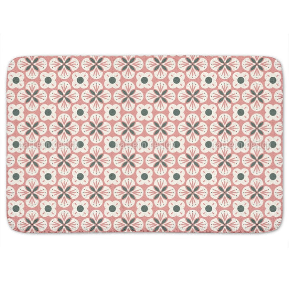 Bloom In Retro Style Bathroom Rug