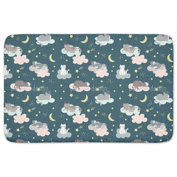 Cats Sleeping In The Clouds Bathroom Rug