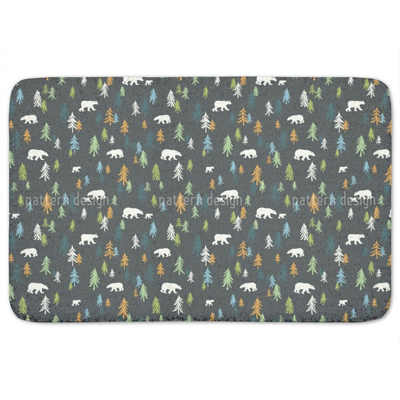 Bears In The Forest Bathroom Rug