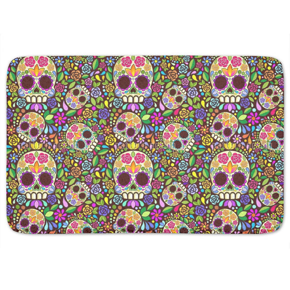 Mexican Skull Bathroom Rug