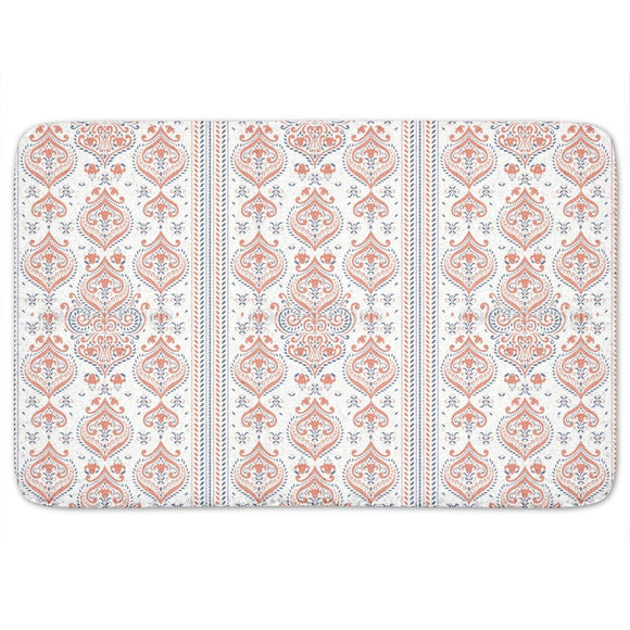 Oriental Border Bathroom Rug