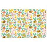 Busy Honey Bees Bathroom Rug