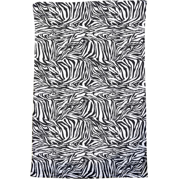 Zebra Black And White Bath Towel