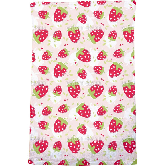 Strawberry Lover Bath Towel