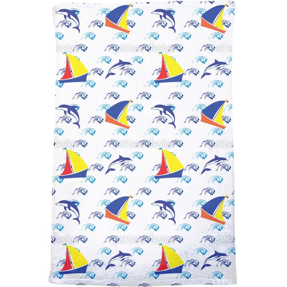 Jumping Dolphins Bath Towel