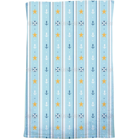 Nautical wallpaper Bath Towel
